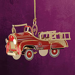 Pedal Fire Truck Ornament