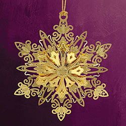 Sparking Snowflake Ornament