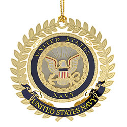 United States Navy Logo Ornament