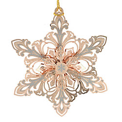 Gleaming Snowflake Ornament