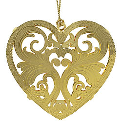 Filigree Heart Ornament