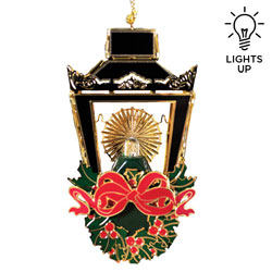 3-D Illuminated Christmas Lantern Ornament
