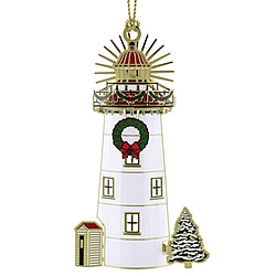 Holiday Lighthouse Ornament