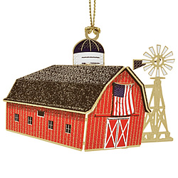 Americana Barn Ornament