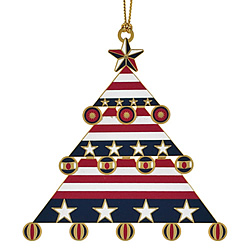 Americana Christmas Tree Ornament