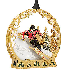 Downhill Skier Ornament