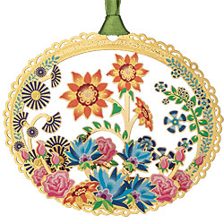 Flower Power Collage Ornament