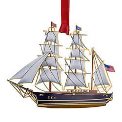 Tall Ship Ornament 3-D