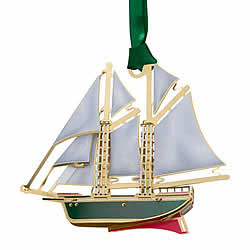 Schooner Ornament 3-D