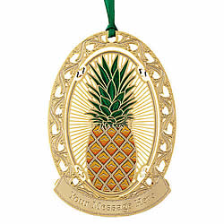 Pineapple Greeting Ornament