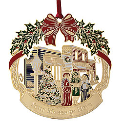 Our Holiday Town Ornament