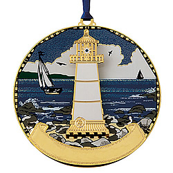 Rocky Lighthouse Ornament (Single)