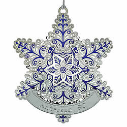 Frosted Snowflake Ornament