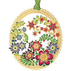 Springtime Collage Ornament