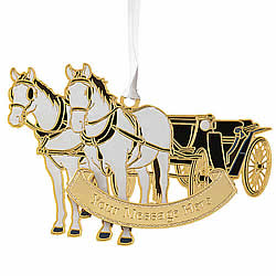 Horse Drawn Carriage Ornament