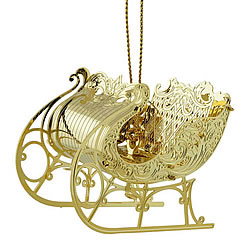 Christmas Sleigh Ornament 3-D