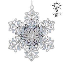 Glowing Snowflake Ornament