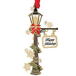 Holiday Lamp Post Ornament