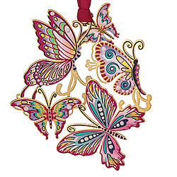 Springtime Butterfly Collage Ornament